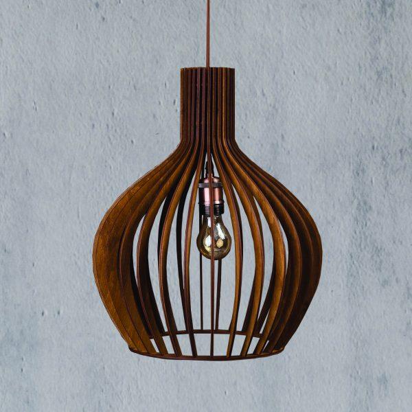 Lustra din lemn nuc Hazel handmade 100% produsa in Romania. Alege dintr-o gama variata de lustre rustice pentru foisor sau pentru casa ta
