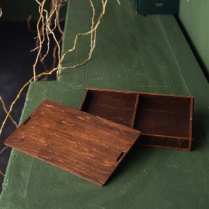 Cutie mica lemn cu 2 compartimente - Alege-o ca pe o cutie cadouri, cutie cu amintiri sau cutie cu poze - Confectionare cutii cadouri