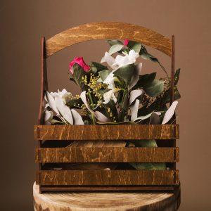 Cos pentru flori - Alege dintr-o gama larga de cuti de cadou, cuti de cadouri, cutii de lemn, cutie pt cadou, cutii handmade, cuti handmade