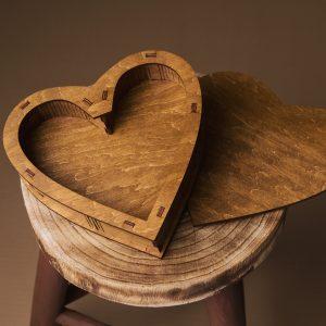 Cutie cadou in forma de inima - Alege dintr-o gama larga de cuti lemn, cuti cadou, cuti de lemn, cutie pt cadou