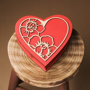 Cutie cadou in forma de inima - Alege dintr-o gama larga de cuti lemn, cuti cadou, cuti de lemn, cutie pentru cadou