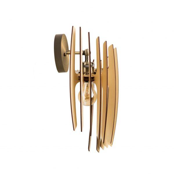 Aplica din lemn Oblique de culoare Crem - Aplice din lemn ieftine fabricate 100% in Romania
