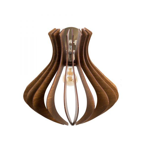 Aplica din lemn Caliope de culoare Crem - Aplice de lemn ieftine fabricate 100% in Romania