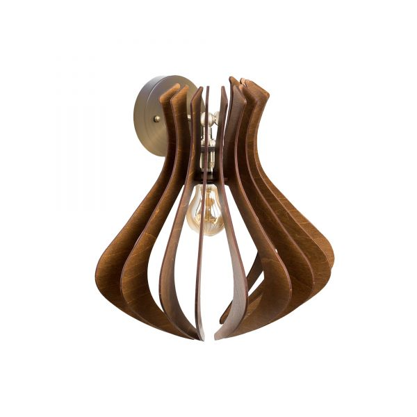 Aplica din lemn Caliope de culoare Crem - Aplice de lemn fabricate 100% in Romania handmade