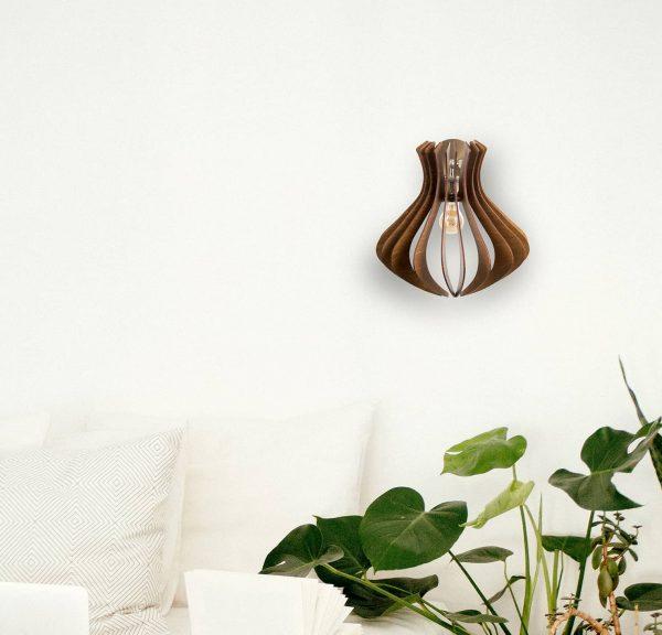 Aplica din lemn Caliope de culoare Crem - Aplice din lemn fabricate 100% in Romania handmade