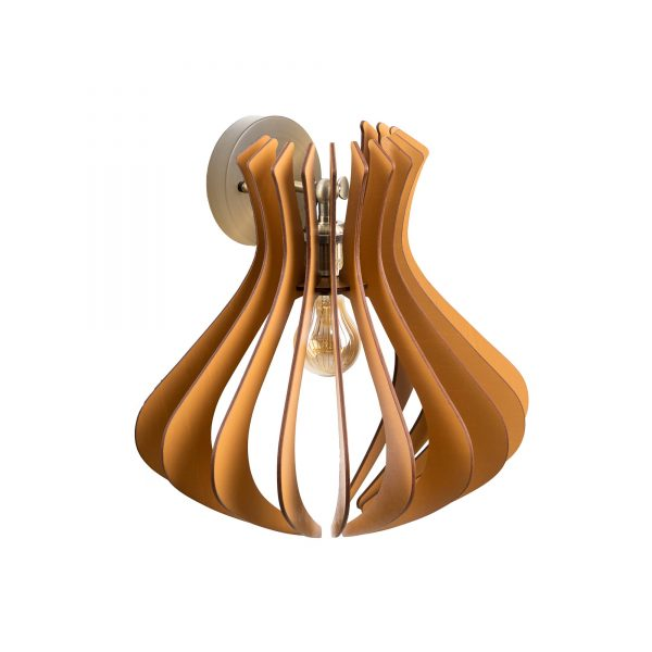 Aplica din lemn Caliope de culoare Brown - Aplica de lemn handmade 100% Romania