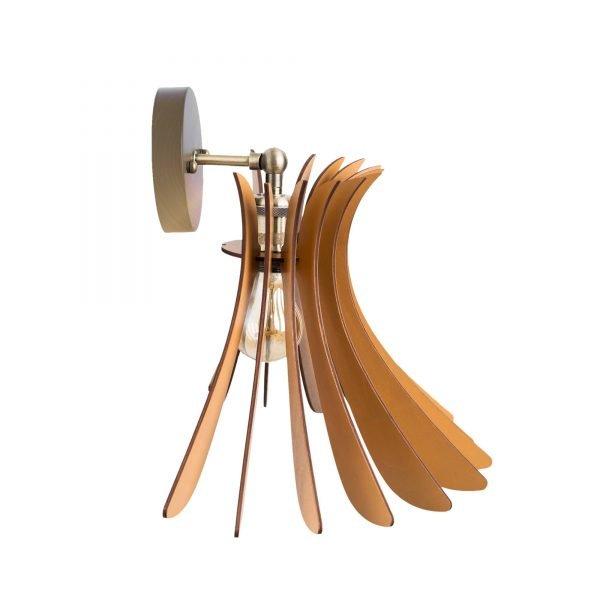 Aplica din lemn Noa de culoare Brown - Aplica din lemn ieftina handmade 100% Romania
