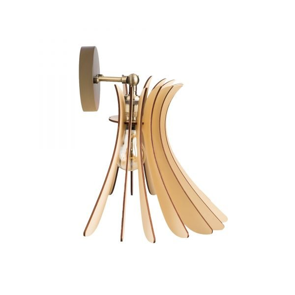 Aplica din lemn Noa de culoare Crem - Aplice de perete din lemn ieftine handmade brand 100% romanesc