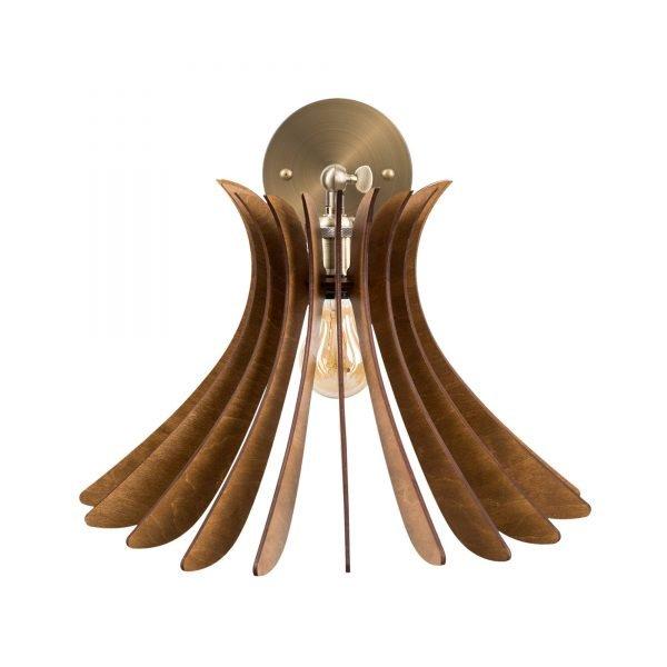 Aplica din lemn Noa de culoare Nuc - Aplica din lemn ieftina handmade brand 100% romanesc