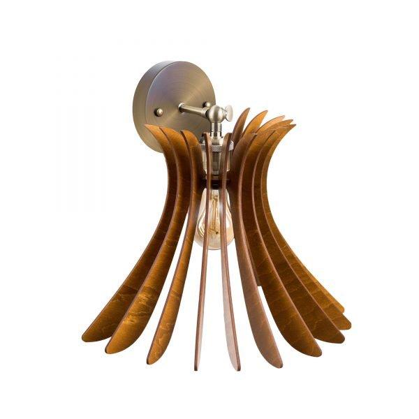 Aplica din lemn Noa de culoare Nuc - Aplice de lemn ieftine handmade brand 100% romanesc