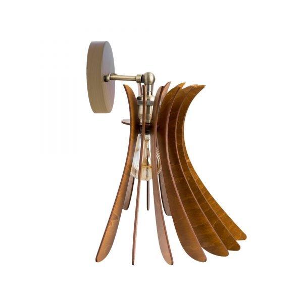 Aplica din lemn Noa de culoare Nuc - Aplice de lemn ieftine fabricate 100% in Romania