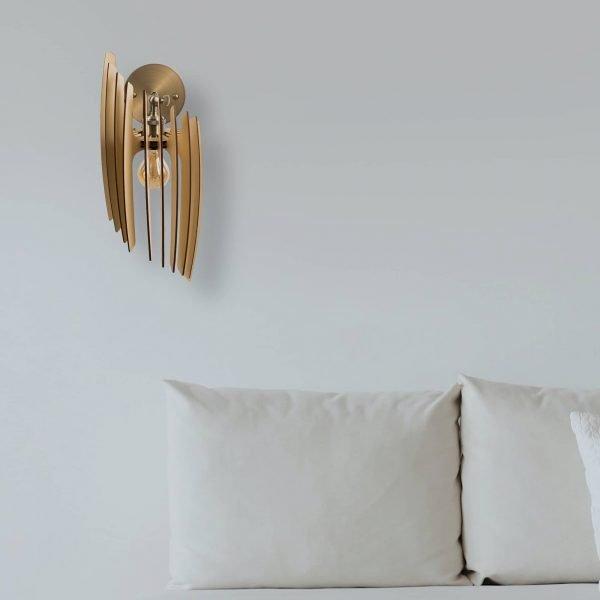Aplica din lemn Oblique de culoare Crem - Aplice lemn ieftine fabricate 100% in Romania