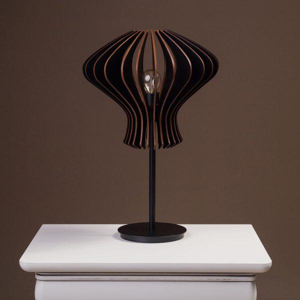 Lampa neagra noptiera handmade cu bec 100% produsa in Romania