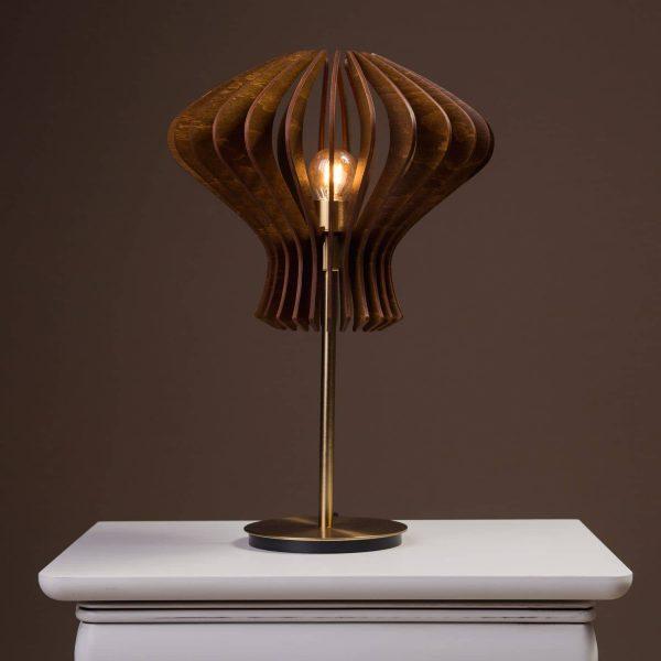 Lampa noptiera din lemn handmade 100% produsa in Romania
