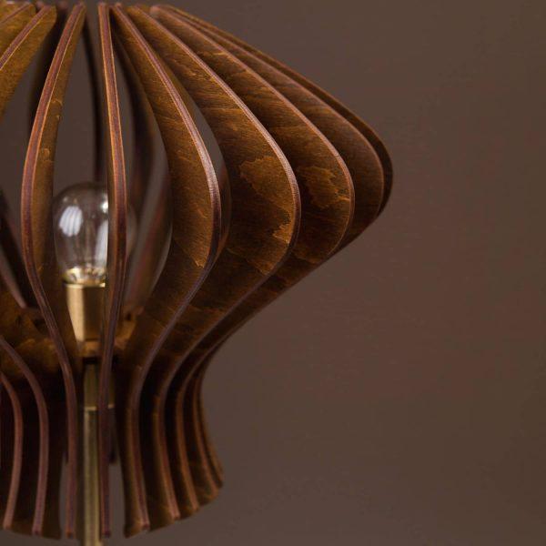 Lampa din lemn pentru birou 100% produsa in Romania