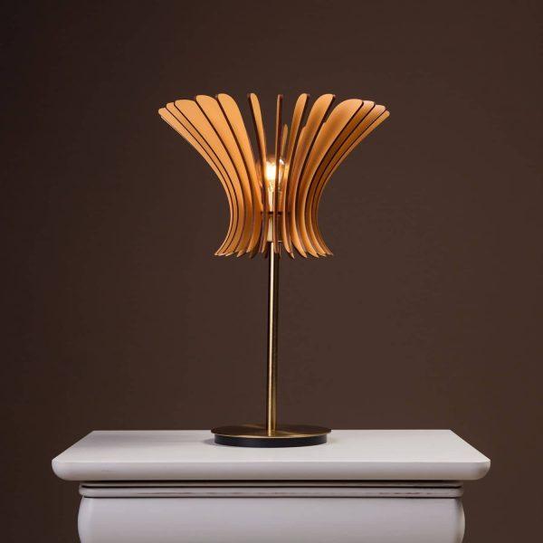 Lampa noptiera handmade brown 100% produsa in Romania