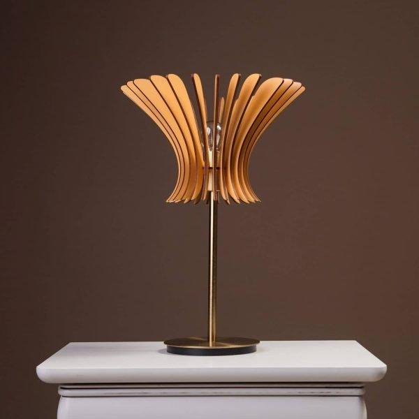 Lampa birou handmade brown 100% produsa in Romania