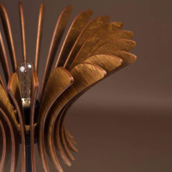 Lampa birou handmade nuc 100% produsa in Romania
