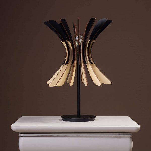 Lampa de birou cu bec 100% produsa in Romania handmade. Lampi de masa mici si moderne si lampi de noptiera handmade.