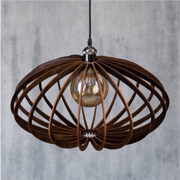 Lustră din lemn Enkata culoare Wenge - Lustre lemn fabricate in Romania handmade